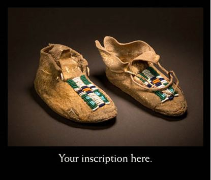 Picture of Moccasins with green