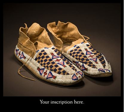Picture of Moccasins with red