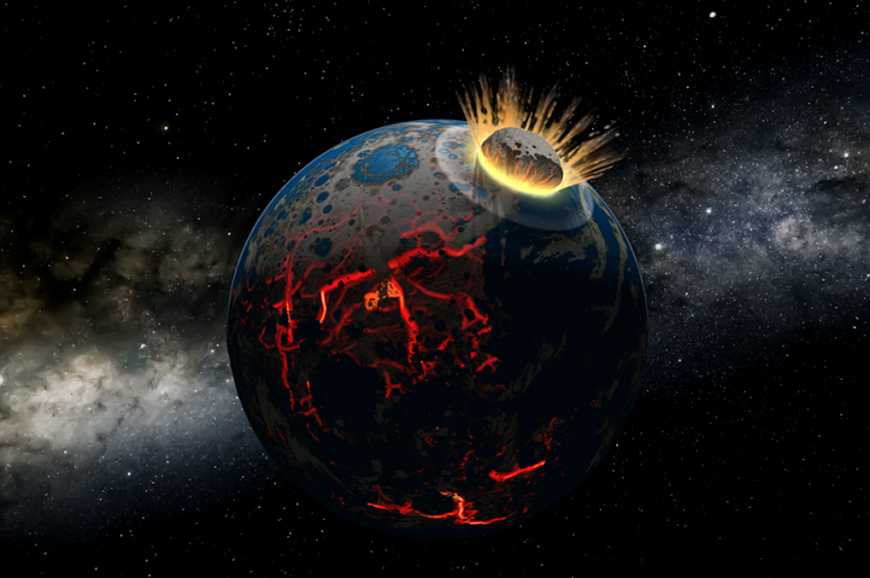 Picture of Colliding Worlds: How Cosmic Encounters Shaped Planets and Life